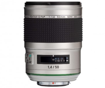 Obiectiv Foto HD Pentax-D FA* 50mm F1.4 SDM AW Silver Edition