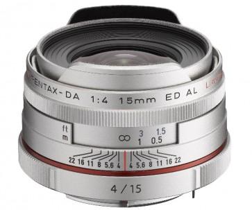 Obiectiv Foto HD Pentax-DA 15mm F4 ED AL Limited Silver