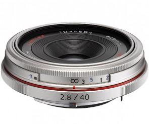 Obiectiv Foto HD Pentax-DA 40mm F2.8 Limited Silver