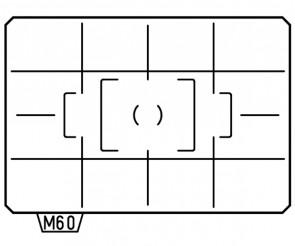 Matte Focusing Screen Pentax ML-60 Divided